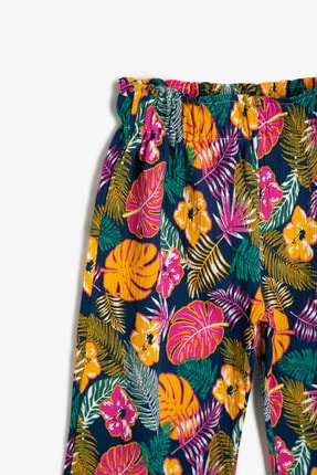 Koton Lacivert Desenli Kız Çocuk Pantolon 2