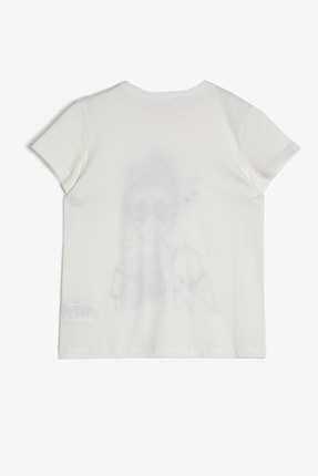 Koton Ekru Kız Çocuk T-Shirt 1