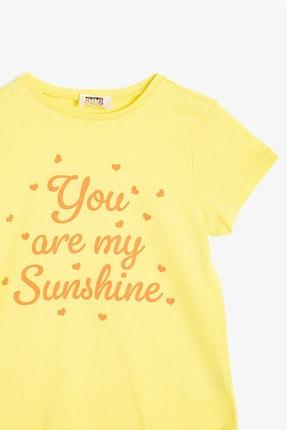 Koton Sarı Kız Çocuk T-Shirt 2