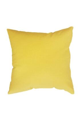 ÖDEL HOME Duck Kırlent Kılıfı,sarı 43x43 Cm (içi Dolu)(ana Kumaş-% 65 Pamuk,% 35 Polyester)(kırlent Içi-300 Gr 0