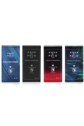 Aqua Di Polo 4'lü Gran Parasido Red +gran Parasido + Gran Parasido Jungle+ Dolcedorme Edp  200 Ml  Erkek Parfüm 1