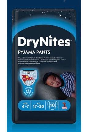 DryNites Erkek Emici Gece Külodu 4-7 Yaş 17-30 kg 10'lu 2 Paket 1