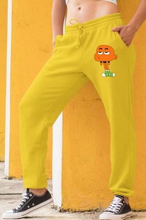 Angemiel Wear Canı Sıkkın Darwin Kadın Eşofman Takımı Sarı Kapşonlu Sweatshirt Sarı Eşofman Altı 1