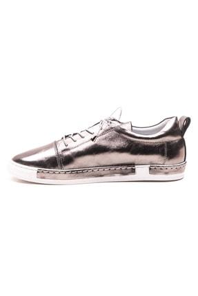 GRADA Kadın Nikel Metalik Deri Parlak Ayakkabı 2