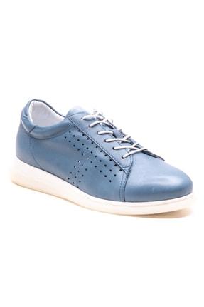 GRADA Kadın Kot Mavisi Deri Günlük Casual Ayakkabı 0