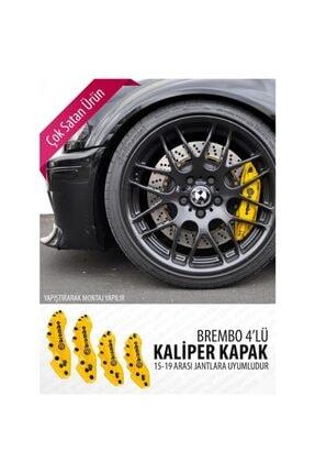 Brembo Renault Latitude Uyumlu Sarı Yağ Hortumlu Kaliper Kapağı 4'lü 1