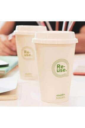 Aladdin Re-use Sustain Cup & Lid 0,35 lt 4lü Paket 3