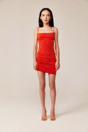 Love On Friday Kadın Vesper Turuncu Sırt Dekolteli Mini Elbise (taş Detaylı) 1