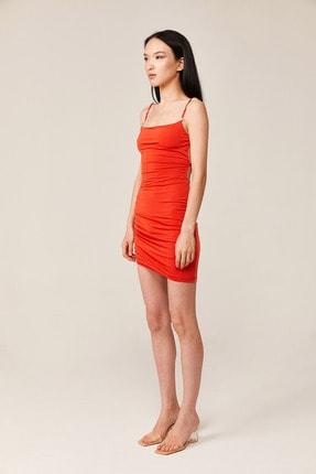 Love On Friday Kadın Vesper Turuncu Sırt Dekolteli Mini Elbise (taş Detaylı) 2