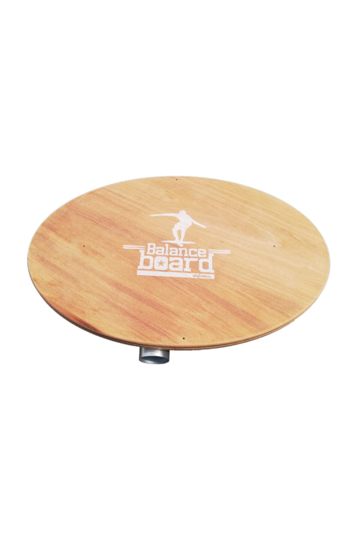 Ahşap Denge Tahtası - Balance Board - Alüminyum Roller