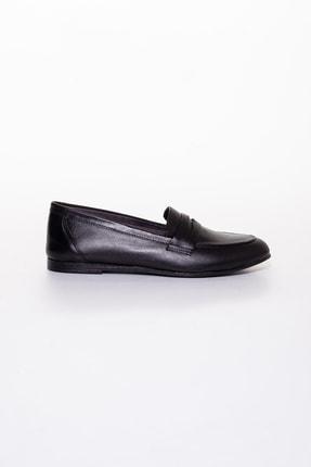 Rome Slippers Hakiki Deri Siyah Kadın Sandalet Rt-804 2