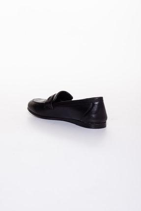 Rome Slippers Hakiki Deri Siyah Kadın Sandalet Rt-804 3