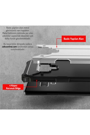 cupcase Samsung Galaxy S6 Edge Kılıf Desenli Sert Korumalı Zırh Tank Kapak - Hayalet 1