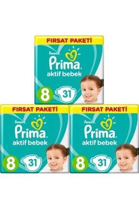 Prima Aktif Bebek 8 Numara Xxl 31 Adet 3 lü Set 0