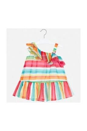 MAYORAL Renkli Çizgili Elbise 3654 0