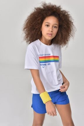 bilcee Beyaz Kız Çocuk T-Shirt GS-8150 4