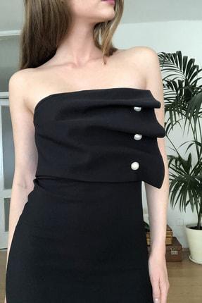 TRENDYOLMİLLA Siyah Aksesuar Detaylı  Elbise TPRSS20EL2177 3