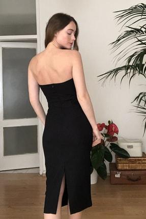 TRENDYOLMİLLA Siyah Aksesuar Detaylı  Elbise TPRSS20EL2177 4