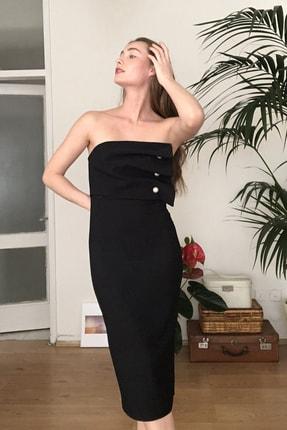 TRENDYOLMİLLA Siyah Aksesuar Detaylı  Elbise TPRSS20EL2177 2