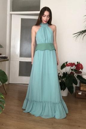 TRENDYOLMİLLA Mint Kemerli Abiye & Mezuniyet Elbisesi TPRSS20AE0289 0