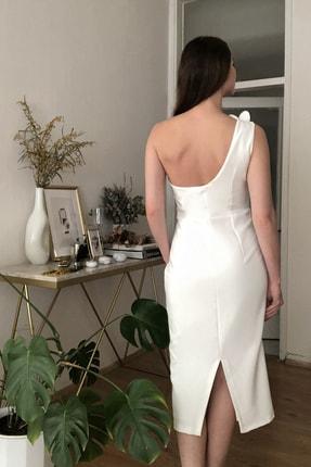 TRENDYOLMİLLA Ekru Aplike Detaylı Elbise TPRSS20EL2718 4