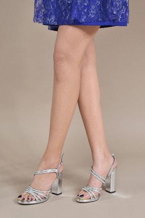 تصویر از Kadın  Gümüş Klasik Topuklu Ayakkabı Vzn20-043y