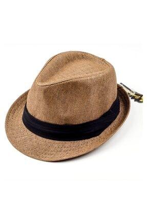 Sarmaşık Unisex Grogren Bantlı Örme Hasır Şapka 0