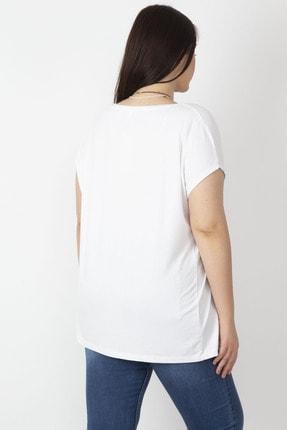 Şans Kadın Beyaz Pul İşli Bluz 65N16554 4