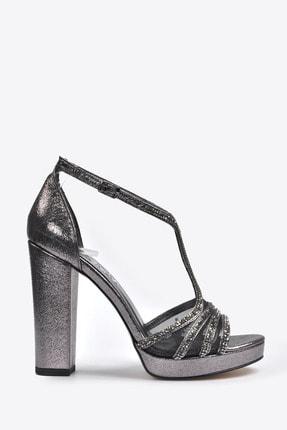تصویر از Kadın  Gri Klasik Topuklu Ayakkabı VZN20-040Y