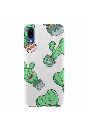 Kılıfland Samsung Galaxy A01 Silikon Resimli Kapak Cactus Smile Stok 1030 0