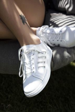 Du Jour Paris Beyaz Gümüş Kadın Spor Ayakkabı 4000-19-101001 2