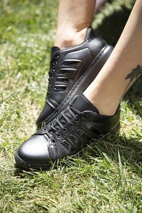 Ayakkabı Modası Siyah Kadın Spor Ayakkabı M4000-19-101002R 0