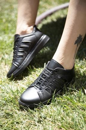 Ayakkabı Modası Siyah Kadın Spor Ayakkabı M4000-19-101002R 3