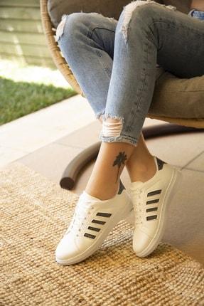Du Jour Paris Beyaz Platin Kadın Spor Ayakkabı 4000-19-101001 1