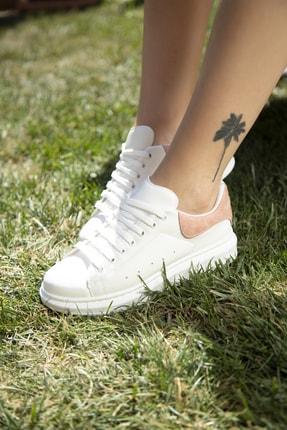 Ayakkabı Modası Beyaz-Pudra Kadın Casual Ayakkabı 5007-20-110001 4