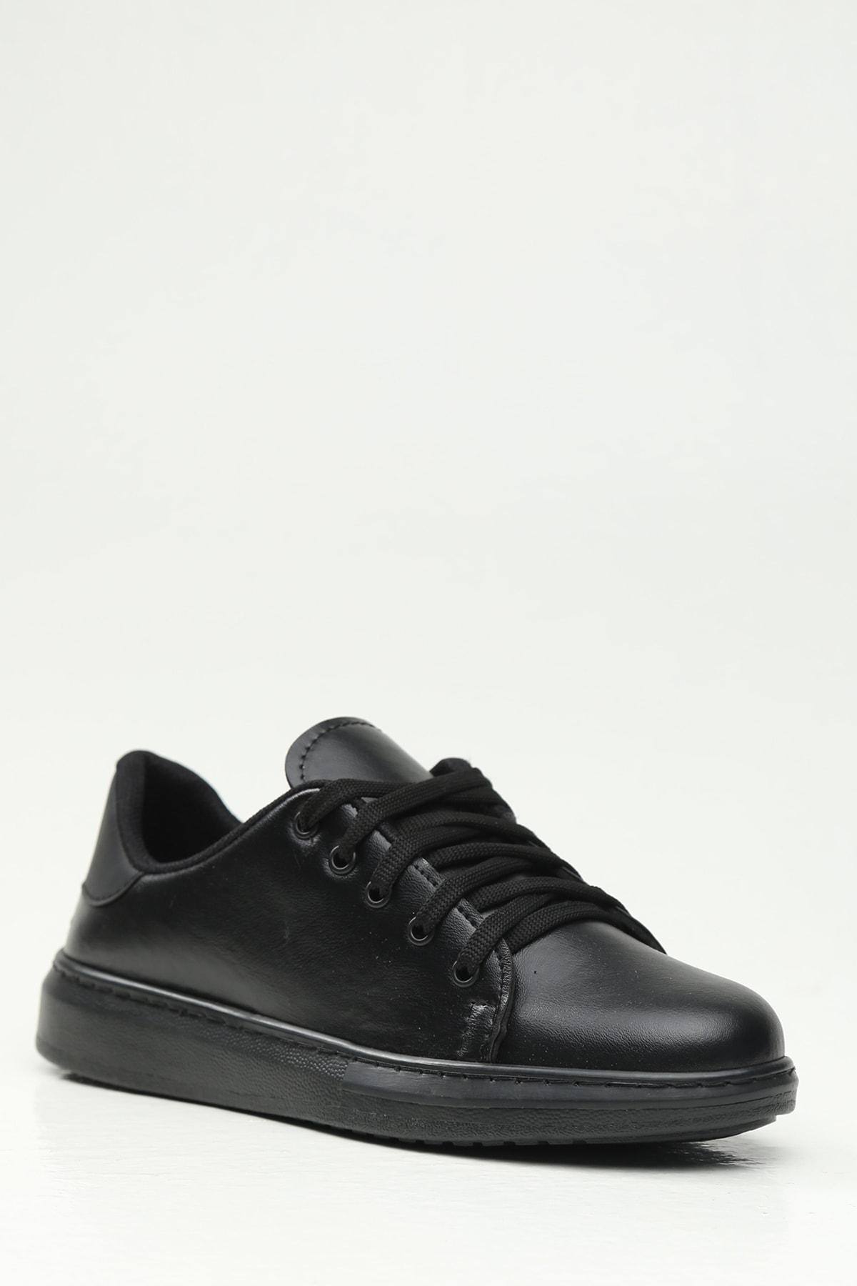 Ayakkabı Modası Siyah-Siyah Kadın Casual Ayakkabı BM-4000-19-110001 1