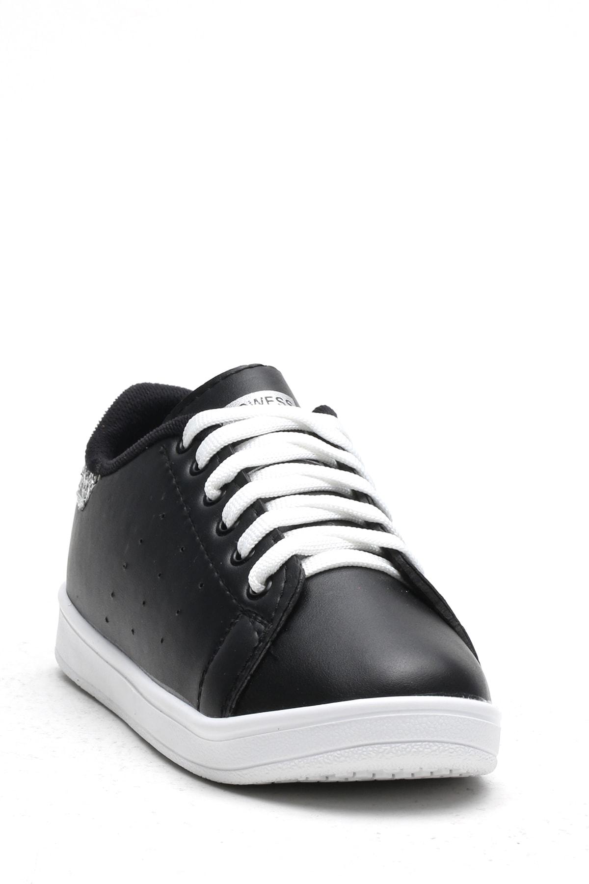 Ayakkabı Modası Siyah-Platin Kadın Casual Ayakkabı BM-4000-19-110003 1