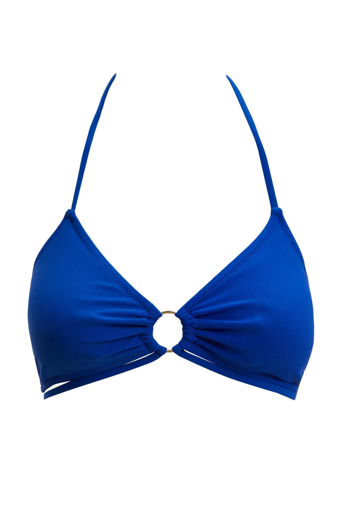 Kadın Mavi Boyundan Bağlamalı Bikini Üstü M9818AZ.20SM.BE220