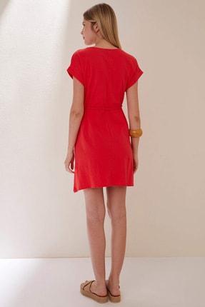 Defacto Belden Bağlama Detaylı Örme Elbise 1