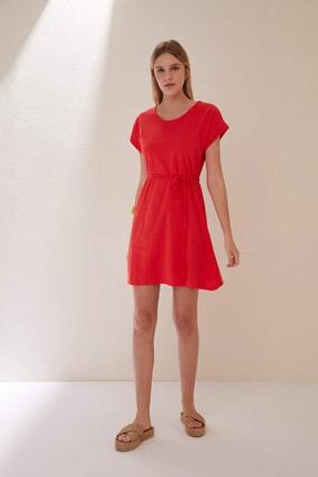 Defacto Belden Bağlama Detaylı Örme Elbise 4