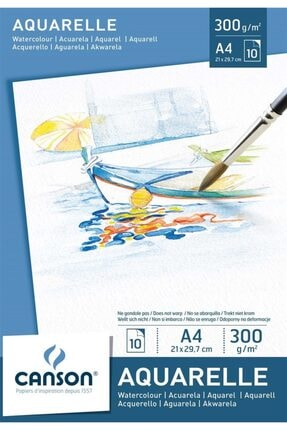Daler Rowney Aquafine Travel Set 12 Renk Sulu Boya + Canson 300 Gr A4 Suluboya Defteri 4