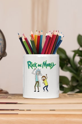2K Dizayn Rick And Morty Tasarım Seramik Kalemlik 0