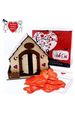 Happyland Sevgiliye Ahşap Aşk Evi Tapusu Ve 365 Gün Kalpli Aşk Notları Ile 0