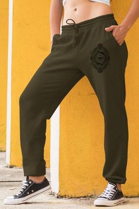 Angemiel Wear Üçgen Motifleri Ay Ve Göz Kadın Eşofman Takımı Sarı Kapşonlu Sweatshirt Yeşil Eşofman Altı 1