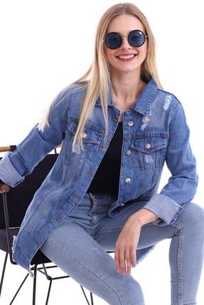 My Style Kadın Buz Mavi Dilek Kot Ceket 2