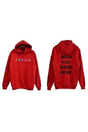 fame-stoned Unisex Kırmızı Sweatshirt 0