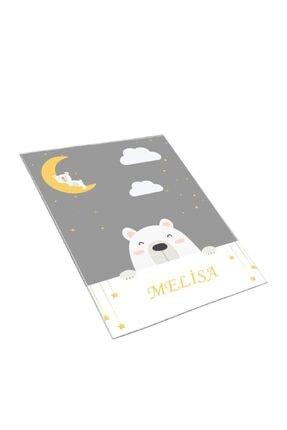 Estela Sevimli Uykucu Kutup Ayısı Desen Çocuk Odası Halısı 1
