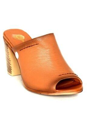 Mammamia Kadın Taba Deri Topuklu Ayakkabı 1