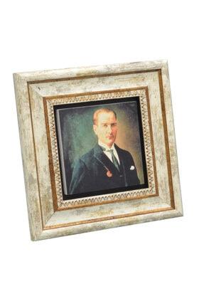 Sadrazam Gazi M. Kemal Atatürk Baskılı Doğaltaş Tablo (25*25) (sa-176) 1
