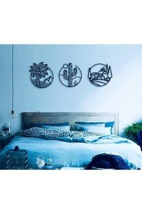 Creality Concept Siyah Ahşap Palm Duvar Dekoru 2